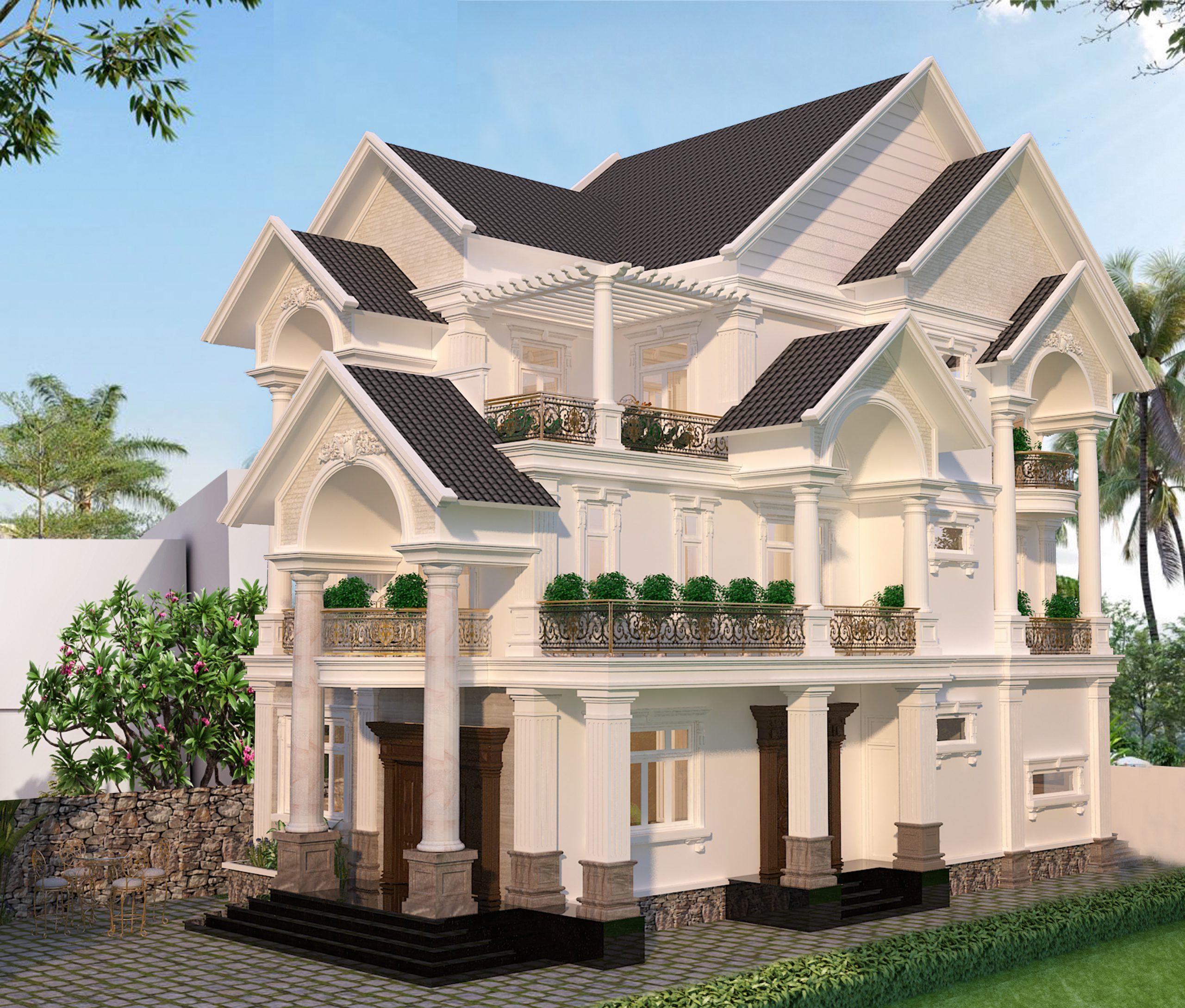 2 scaled Mẫu nhà biệt thự 3 tầng đẹp mái thái 11,4x17m đẹp nhất nhì ở Đồng Tháp