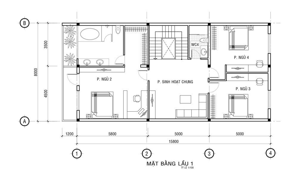 MB LAU 1 Mẫu nhà 3 tầng mặt tiền 8x20m mái thái khang trang như một khách sạn ở Quận 1 Sài Gòn