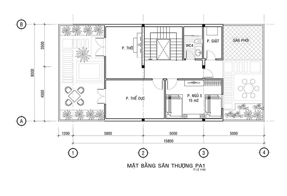 MB LAU 2 Mẫu nhà 3 tầng mặt tiền 8x20m mái thái khang trang như một khách sạn ở Quận 1 Sài Gòn