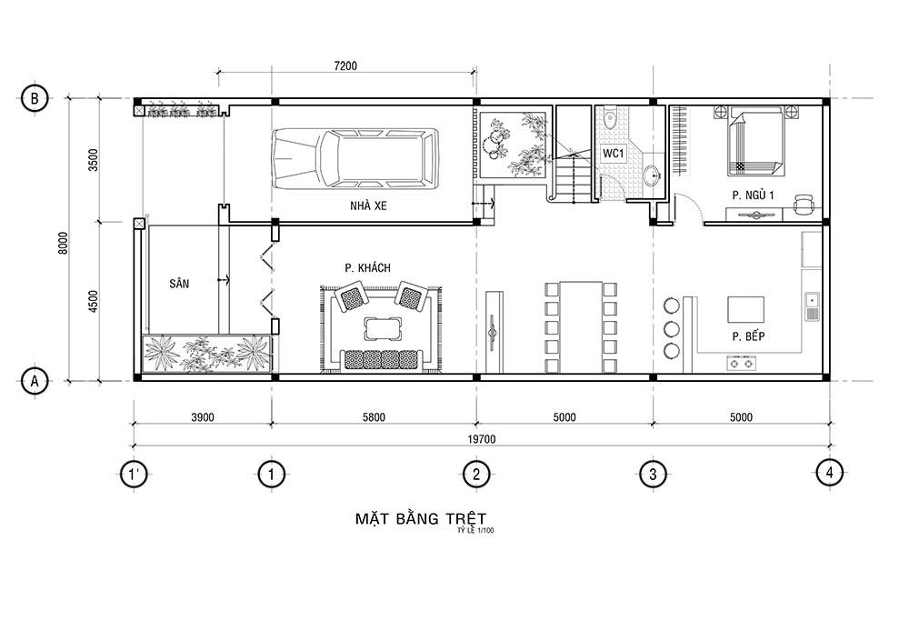MB TRET Mẫu nhà 3 tầng mặt tiền 8x20m mái thái khang trang như một khách sạn ở Quận 1 Sài Gòn