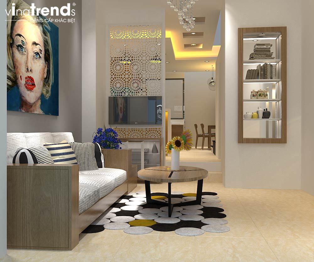 TRET Thiết kế nội thất cao cấp cho căn hộ nhỏ xinh   NT131213B