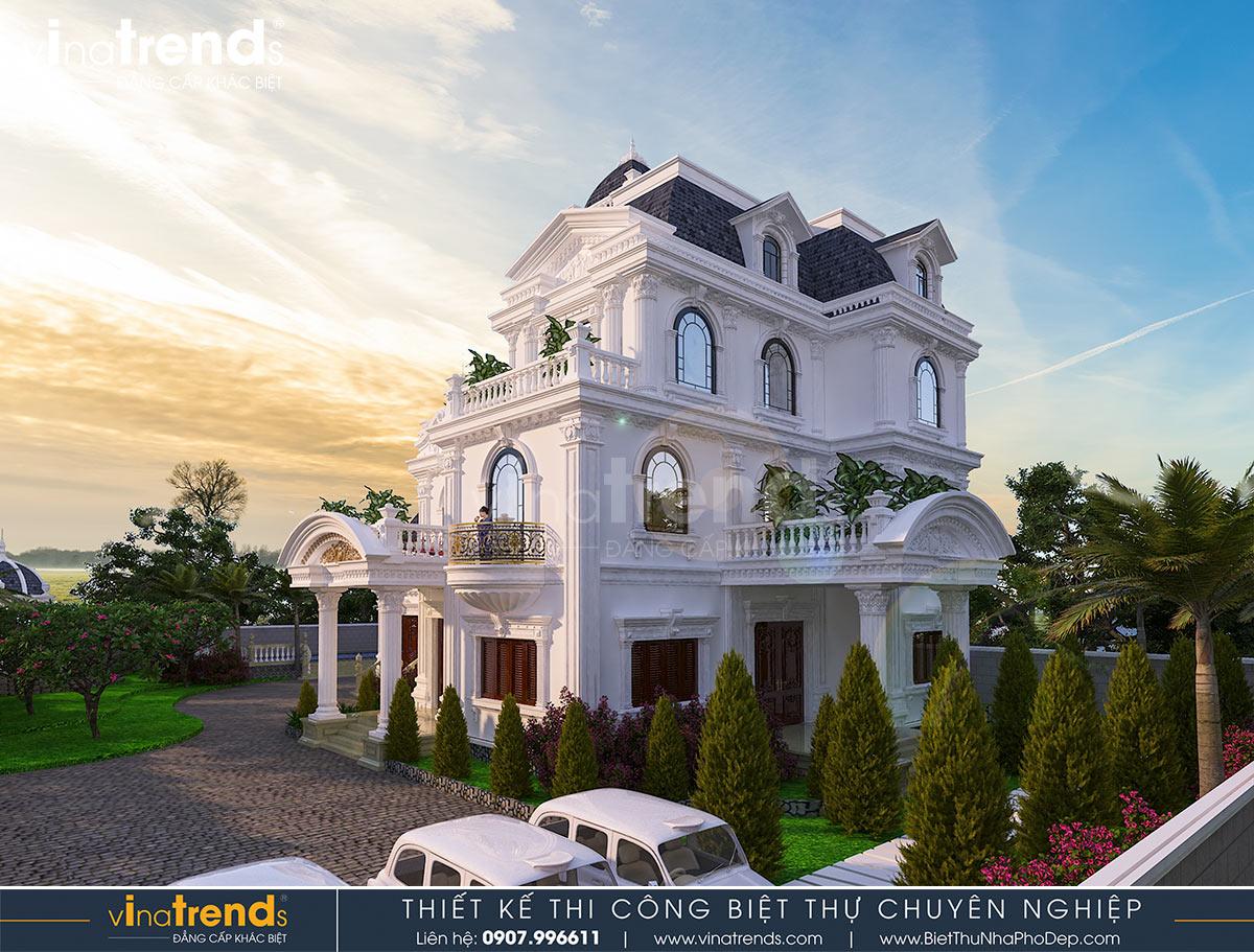 biet thu lau dai 3 tang co dien co san vuon dep nhat viet nam 1 Biệt thự lâu đài 3 tầng cổ điển có sân vườn rộng 1500m2 của đại gia miền Trung ở Bình Phước