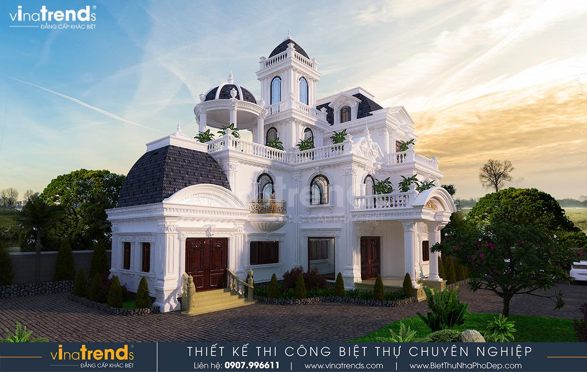 biet thu lau dai 3 tang co dien co san vuon dep nhat viet nam 2 Biệt thự lâu đài 3 tầng cổ điển có sân vườn rộng 1500m2 của đại gia miền Trung ở Bình Phước