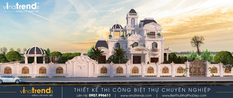biet thu lau dai 3 tang co dien co san vuon dep nhat viet nam 3 Biệt thự lâu đài 3 tầng cổ điển có sân vườn rộng 1500m2 của đại gia miền Trung ở Bình Phước