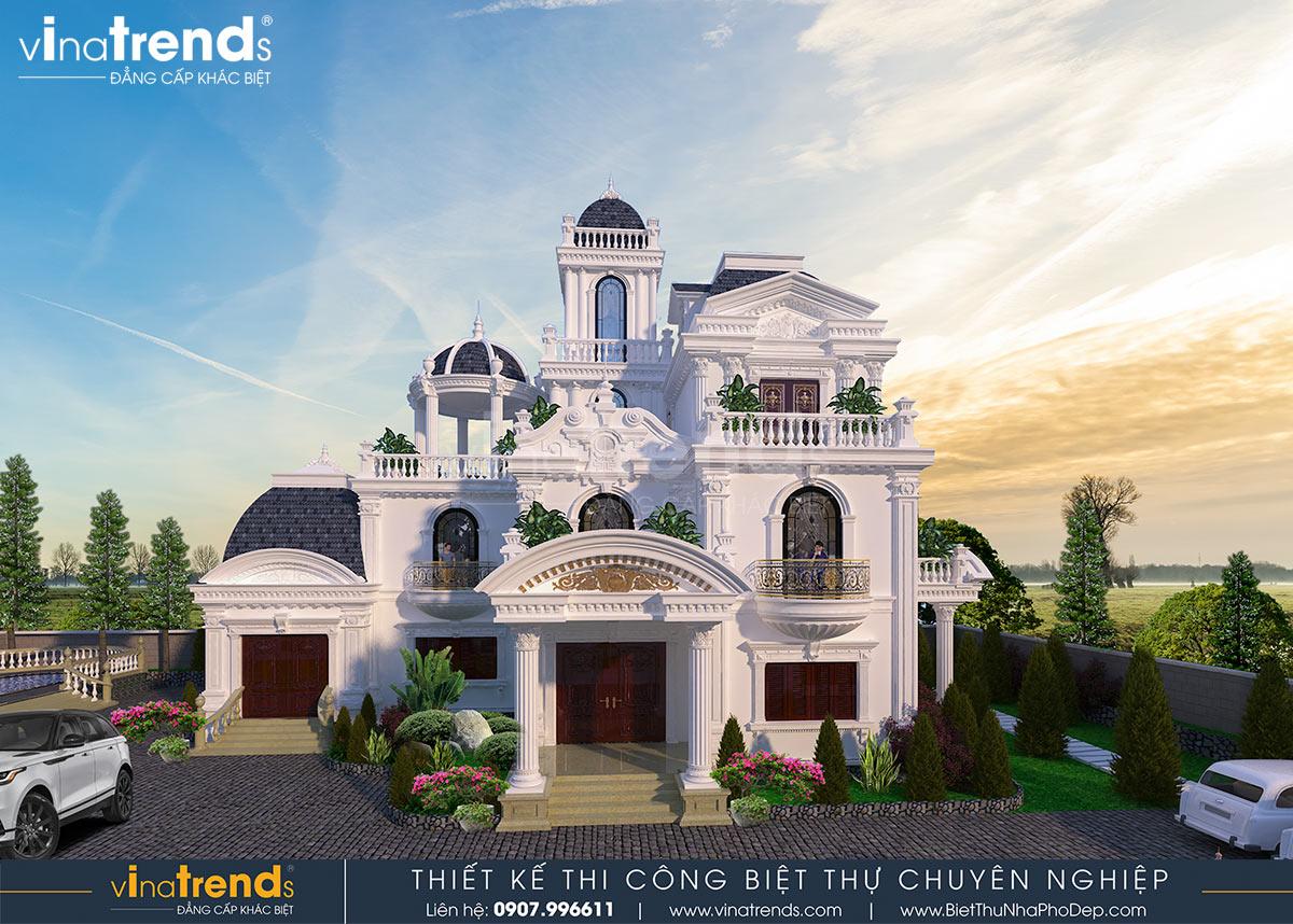 biet thu lau dai 3 tang co dien co san vuon dep nhat viet nam Biệt thự lâu đài 3 tầng cổ điển có sân vườn rộng 1500m2 của đại gia miền Trung ở Bình Phước