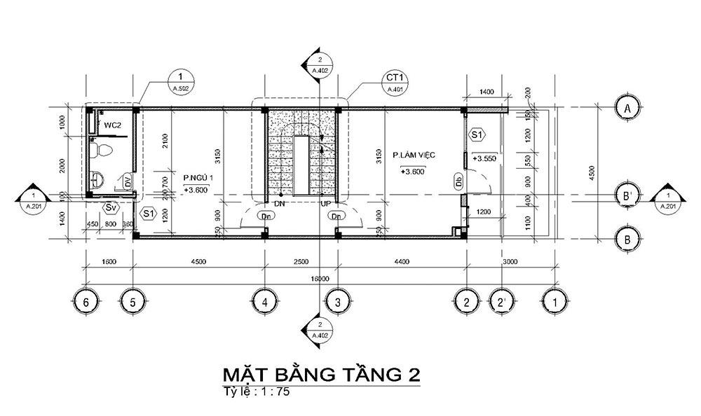 mat bang mau nha ong mat tien 45m 4 tang 2 Mẫu nhà ống mặt tiền 4,5m 4 tầng dài 16m tất cả các phòng điều rộng thoáng mát ở Quận 7