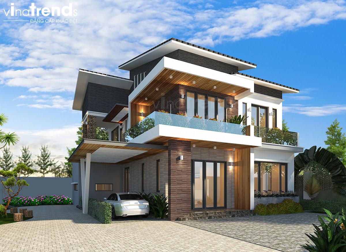 mau biet thu nha vuon 2 tang hien dai dep Mẫu biệt thự đẹp 3 tầng hiện đại 18x20m chỉ muốn ở nhà của gia đình chú Tuấn ở Nha Trang