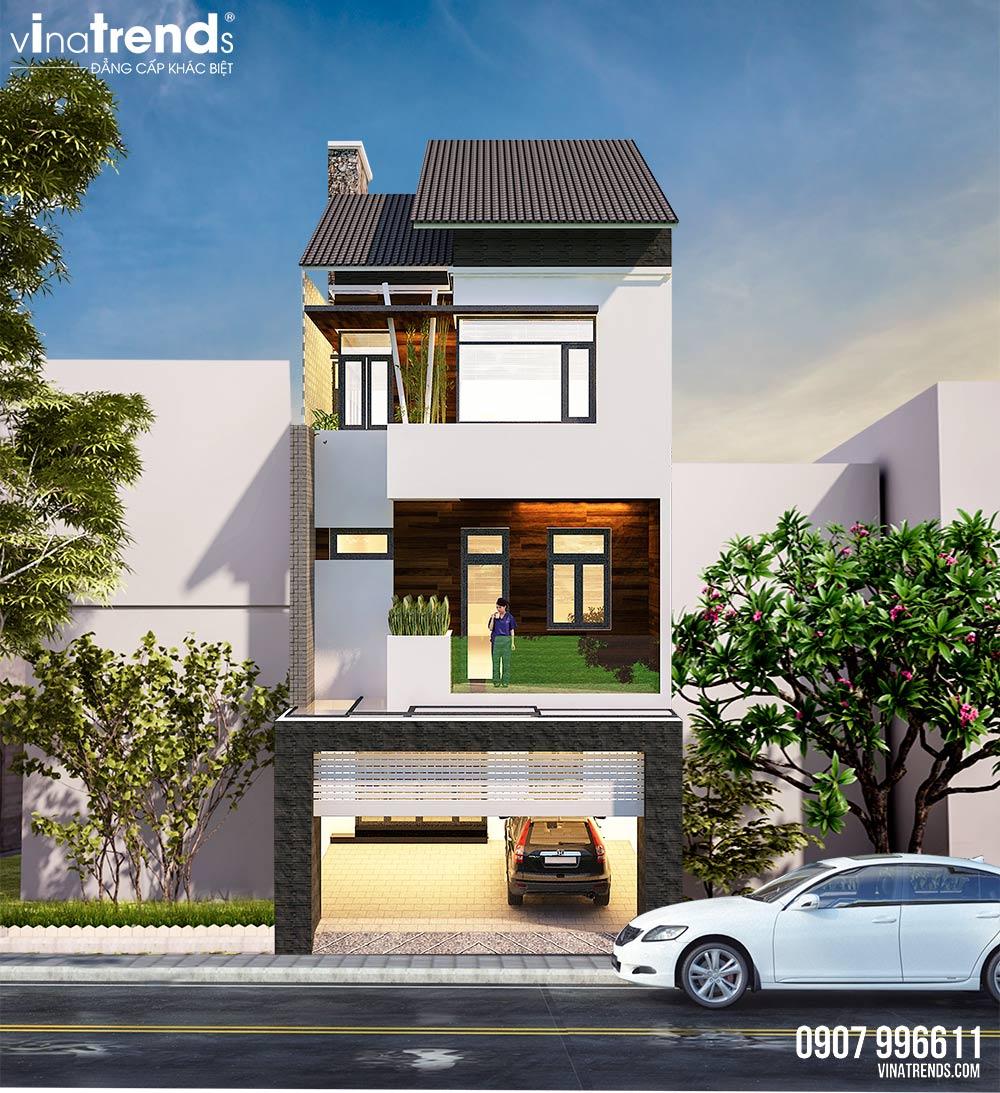 mau nha 3 tang hien dai dep nhat 2 Mẫu nhà 3 tầng đẹp hiện đại 6,7x12m có 3 giếng trời cho chủ nhà ưu tiên ánh sáng ở Biên Hòa