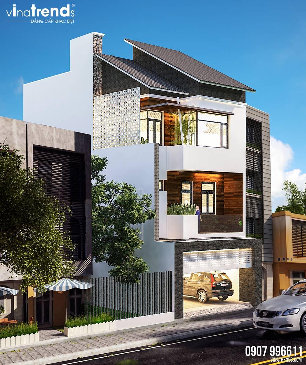 mau nha 3 tang hien dai dep nhat 3 Mẫu nhà 3 tầng đẹp hiện đại 6,7x12m có 3 giếng trời cho chủ nhà ưu tiên ánh sáng ở Biên Hòa