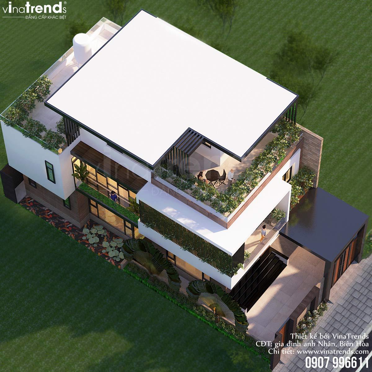 mau nha 3 tang hien dai dep nhat viet nam Mẫu nhà biệt thự 3 tầng đẹp hiện đại 120m2 xây trên khu đất Vàng ở Bửu Long   Biên Hòa