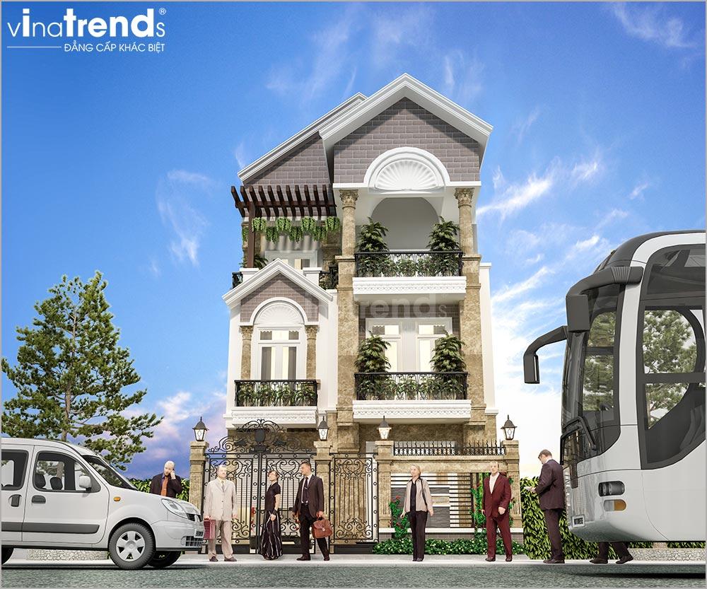 mau nha 3 tang mai thai mat tien 8m dep nhat 1 Mẫu nhà 3 tầng mặt tiền 8x20m mái thái khang trang như một khách sạn ở Quận 1 Sài Gòn