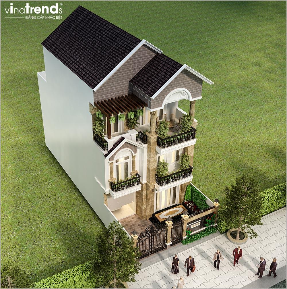 mau nha 3 tang mai thai mat tien 8m dep nhat 3 Mẫu nhà 3 tầng mặt tiền 8x20m mái thái khang trang như một khách sạn ở Quận 1 Sài Gòn
