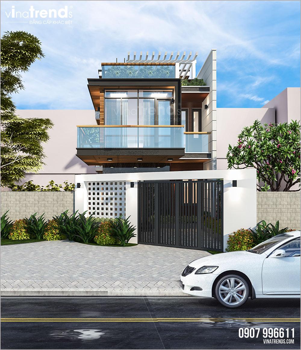mau nha biet thu 2 tang hien dai dep nhat viet nam 2 Mẫu nhà 2 tầng mái thái đơn giản 7,8x11m đẹp như  biệt thự ở Biên Hòa