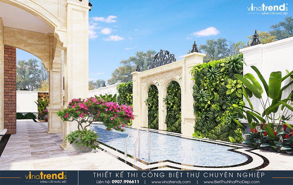 mau nha biet thu 2 tang kieu phap co san vuon rong dep nhat viet nam 3 Mẫu nhà biệt thự 2 tầng kiểu Pháp có sân vườn rộng 2190m2 của hãng xe Thành Công