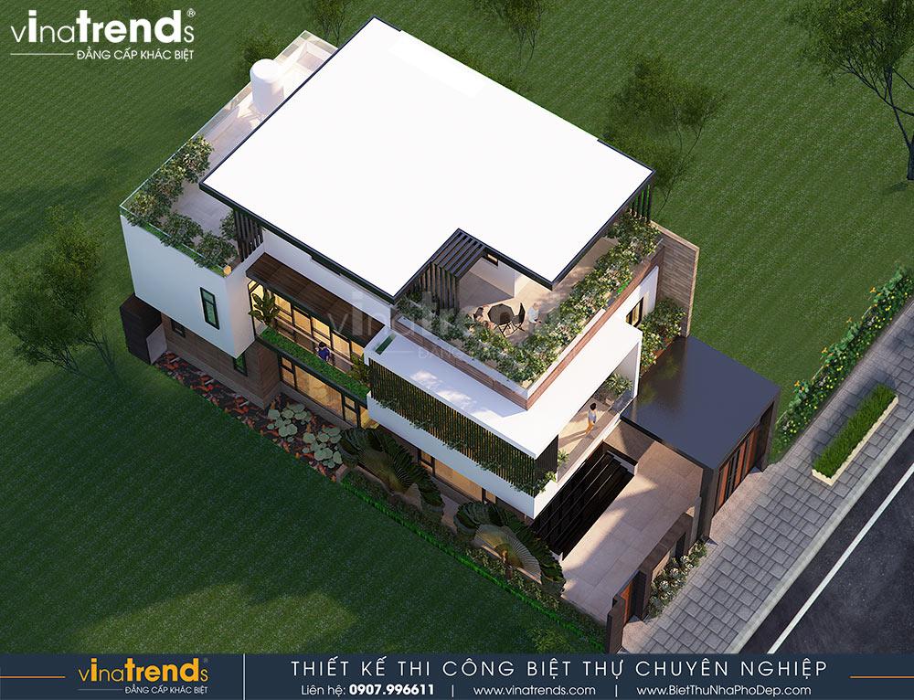 mau nha biet thu 3 tang dep hien dai Mẫu nhà biệt thự 3 tầng đẹp hiện đại 120m2 xây trên khu đất Vàng ở Bửu Long   Biên Hòa