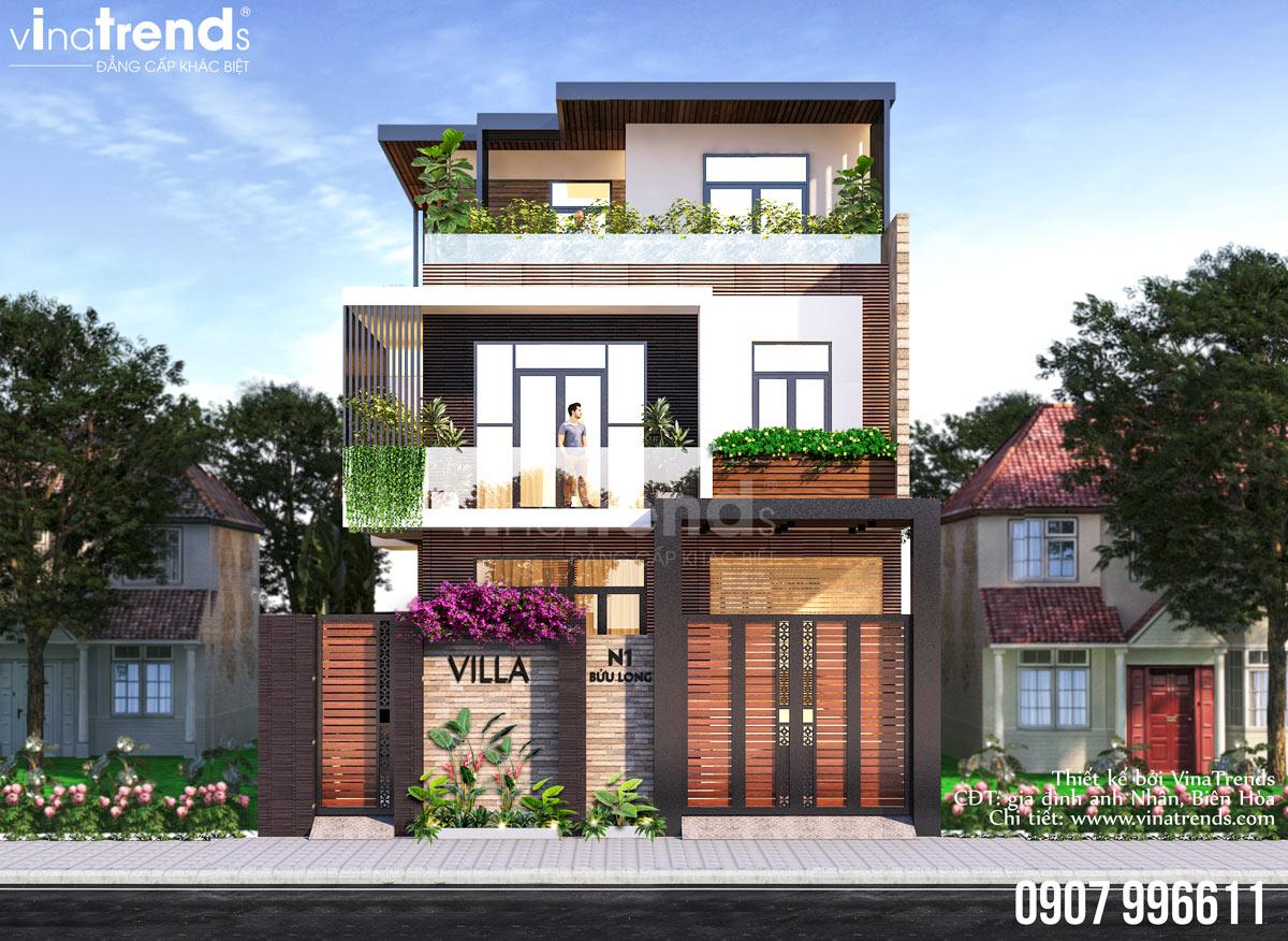 mau nha biet thu 3 tang hien dai VinaTrends   Công ty xây dựng tại Đồng Nai hơn 499 công trình thiết kế xây nhà trọn gói trên toàn Việt Nam