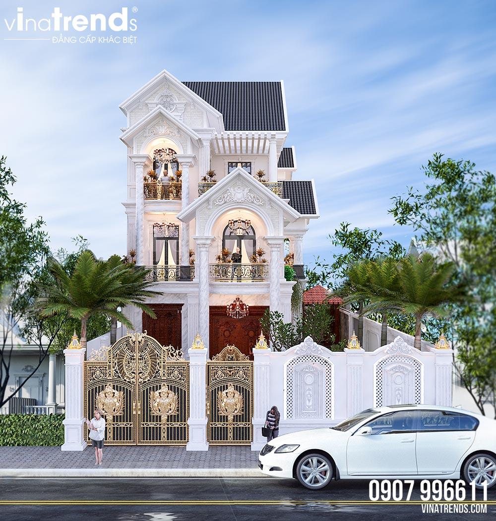 mau nha biet thu 3 tang mai thai dep nhat 2 Mẫu nhà biệt thự cổ điển mái thái 3 tầng 7mx17,6m mọi không gian hút gió & ánh sáng tính toán tài tình