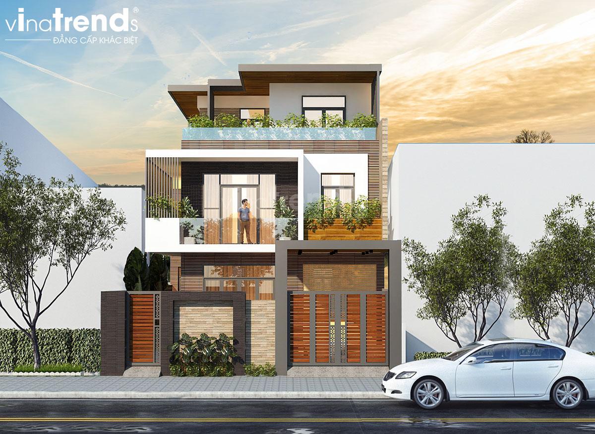 mau nha biet thu hien dai 3 tan Mẫu biệt thự đẹp 3 tầng hiện đại 18x20m chỉ muốn ở nhà của gia đình chú Tuấn ở Nha Trang