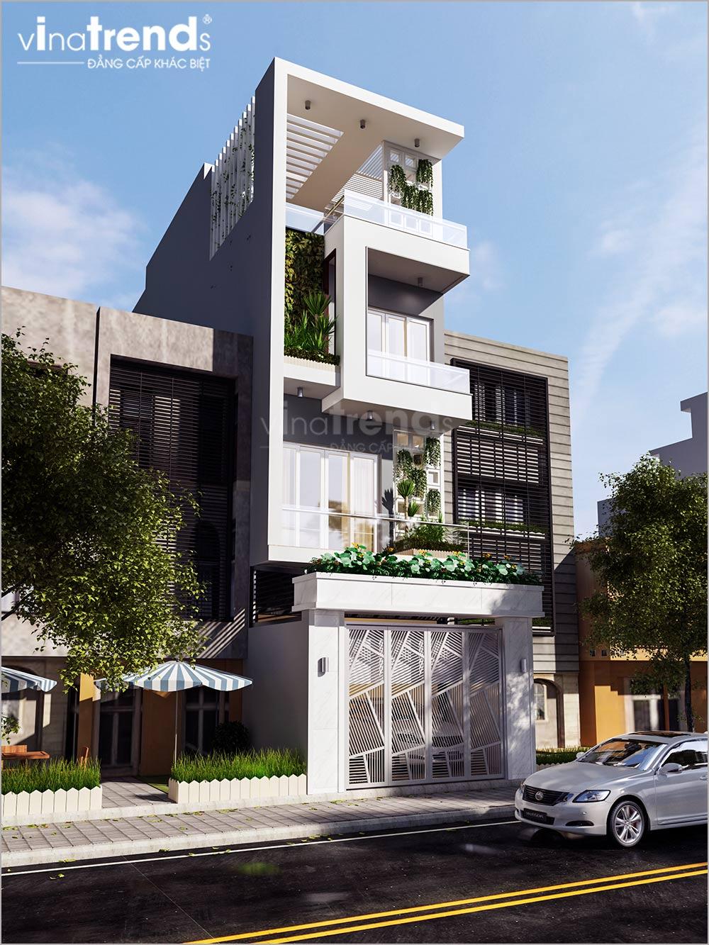 mau nha ong mat tien 5m 4 tang hien dai dep nhat 4 Mẫu nhà phố mặt tiền 5m 4 tầng hiện đại đẳng cấp Việt anh Phương Bình Chánh