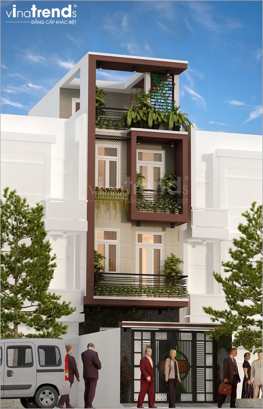 mau nha ong mat tien 5m 4 tang hien dai dep nhat hien nay 3 Mẫu nhà phố mặt tiền 4m 4 tầng dài 12m cả nội thất hiện đại ở Gò Vấp   Hồ Chí Minh