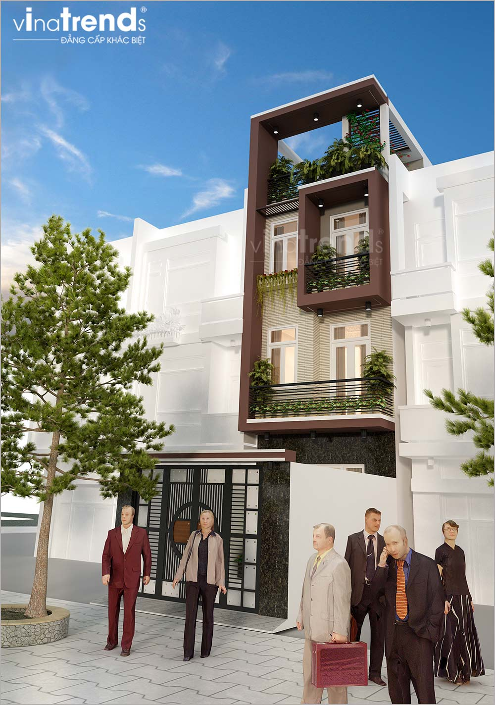 mau nha ong mat tien 5m 4 tang hien dai dep nhat hien nay 4 Mẫu nhà phố mặt tiền 4m 4 tầng dài 12m cả nội thất hiện đại ở Gò Vấp   Hồ Chí Minh