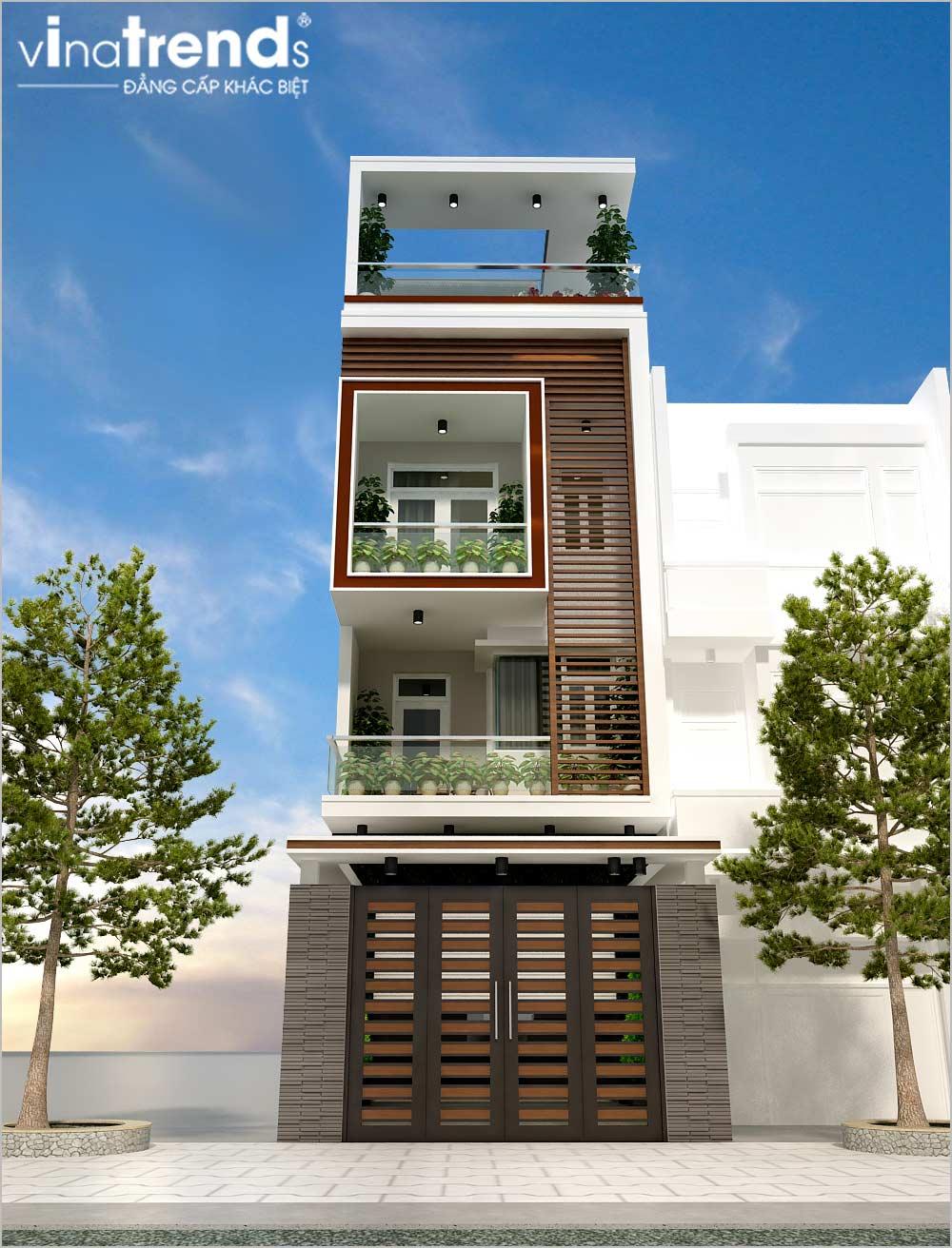 mau nha pho mat tien 5m 4 tang dep co ho boi Mẫu nhà phố mặt tiền 5m 4 tầng dài 18m có hồ bơi đầu tư tới cùng của nhà anh Phước ở Sài Gòn