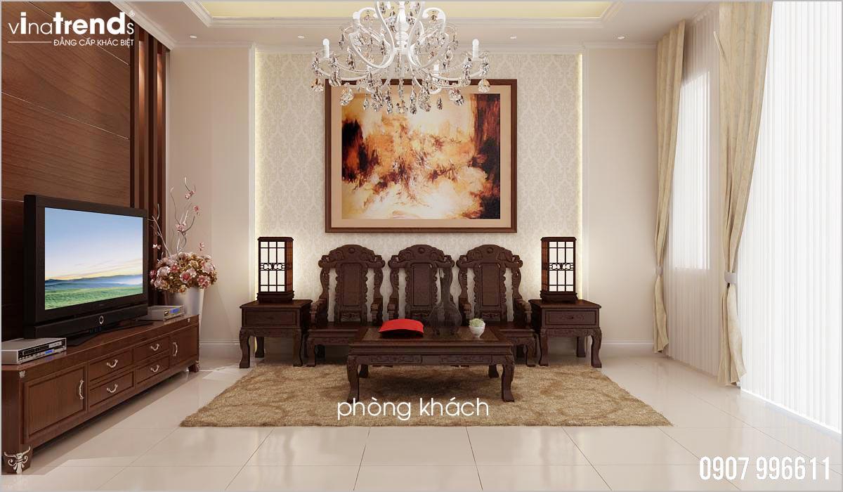 mau phong khach go dep 【Phải Xem】mẫu biệt thự mái thái 3 tầng đẹp 8x13m có 4 phòng ngủ ở Đồng Nai