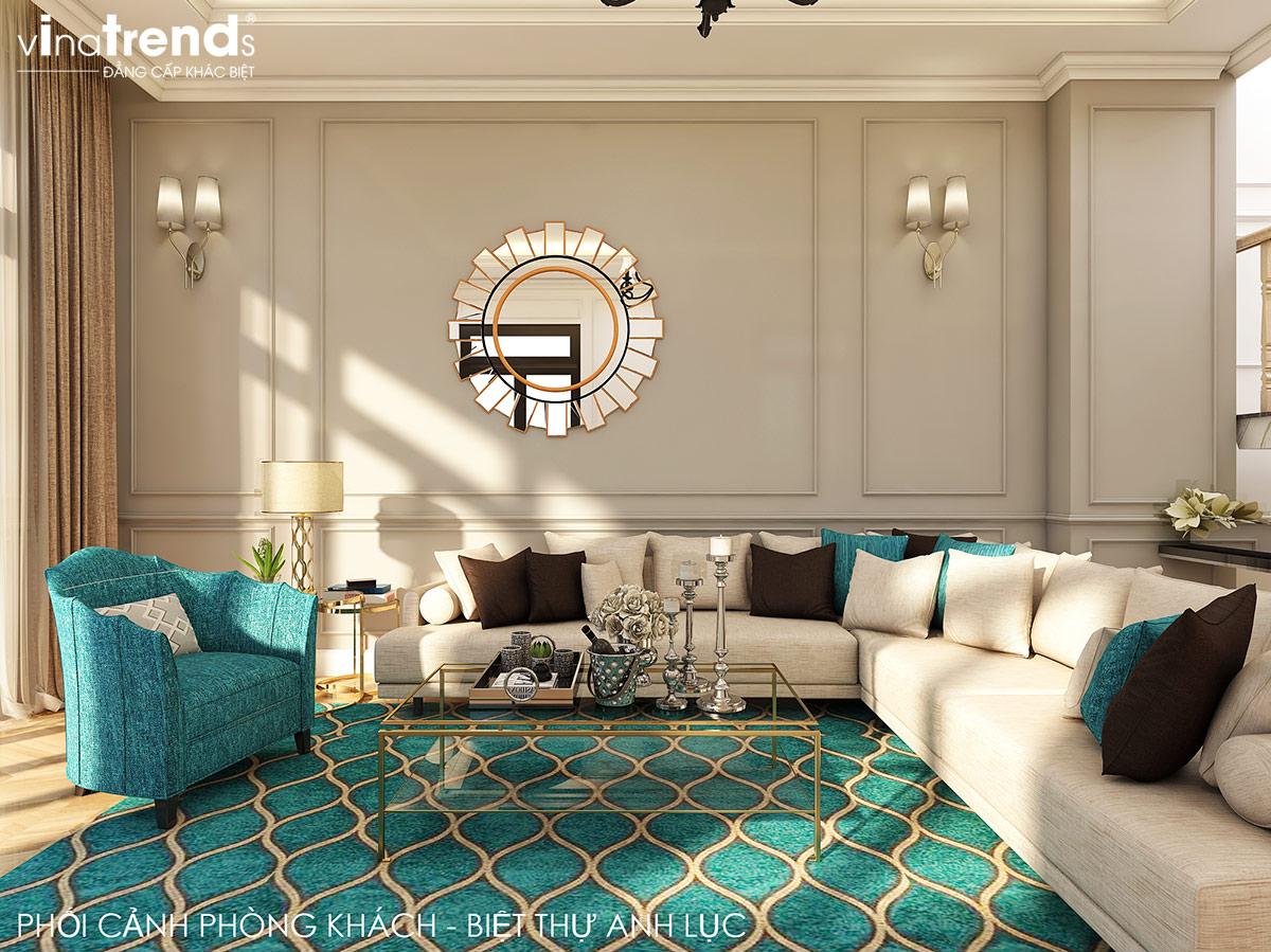 noi that nha biet thu 2 tang mai thai dep don gian 5 Bí quyết thiết kế nội thất phòng khách gọn gàng cho nhà đẹp   NTPK040814A