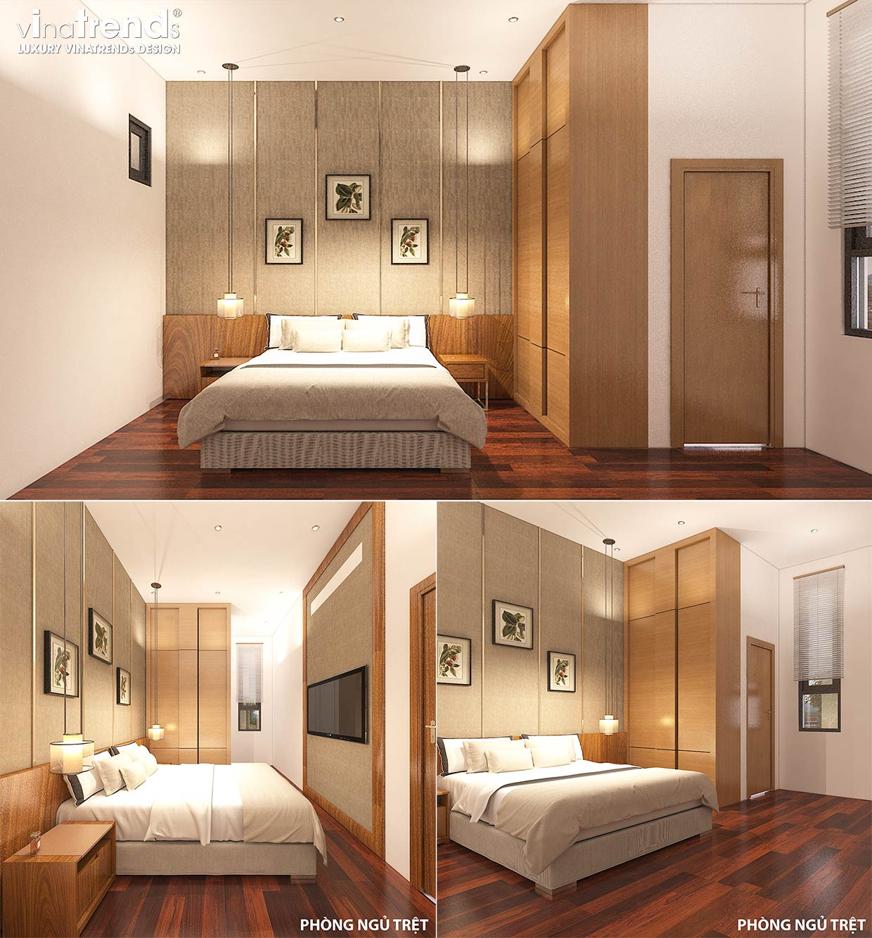 noi that nha hien dai dep 10 Bản vẽ mẫu nhà biệt thự 3 tầng hiện đại 8x16m có hầm gara ô tô nhà anh Giang ở Hồ Chí Minh