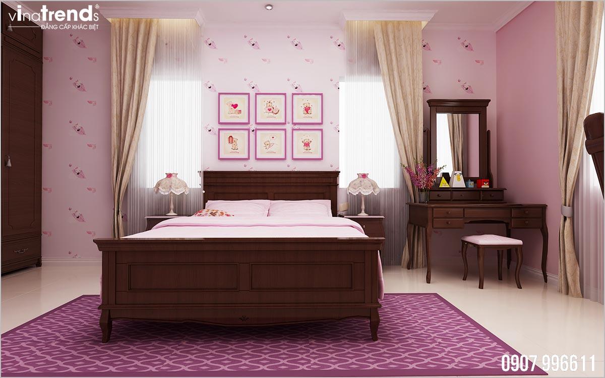 phong ngu con gai mau hong dep 【Phải Xem】mẫu biệt thự mái thái 3 tầng đẹp 8x13m có 4 phòng ngủ ở Đồng Nai