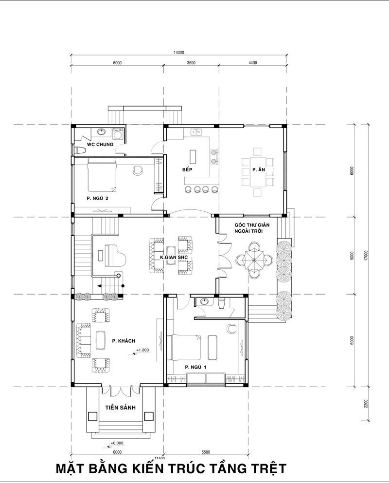 MB TRET 11 Mẫu nhà biệt thự 2 tầng cổ điển 14x17m có sân vườn lộng lẫy như cung điện của chú Y ở Củ Chi