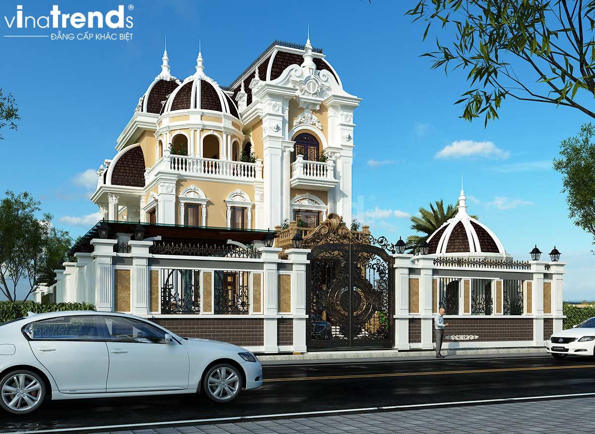 mau biet thu 3 tang co dien dep nhat viet nam Thiết kế biệt thự 2 tầng tân cổ điển 8x18,3m 2 tầng ấn tượng ở Long An