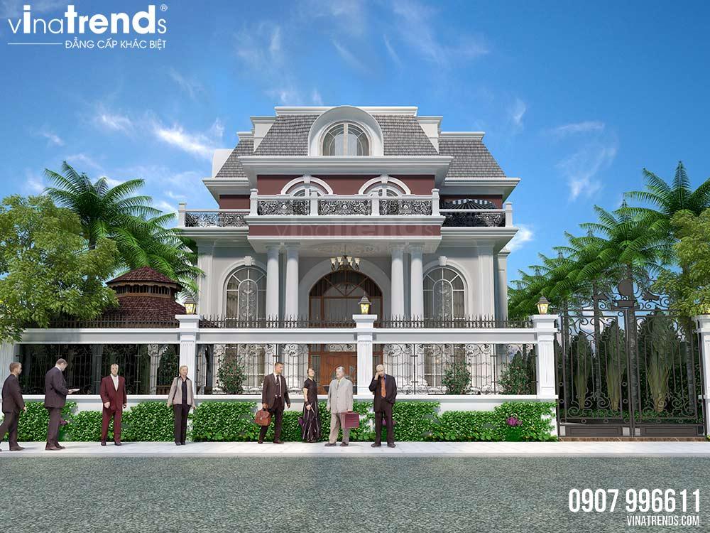 mau biet thu co dien phap 3 tang co ho boi dep nhat gioi showbiz viet 1 Mẫu kiến trúc nhà đẹp xu hướng 3   5 năm tới