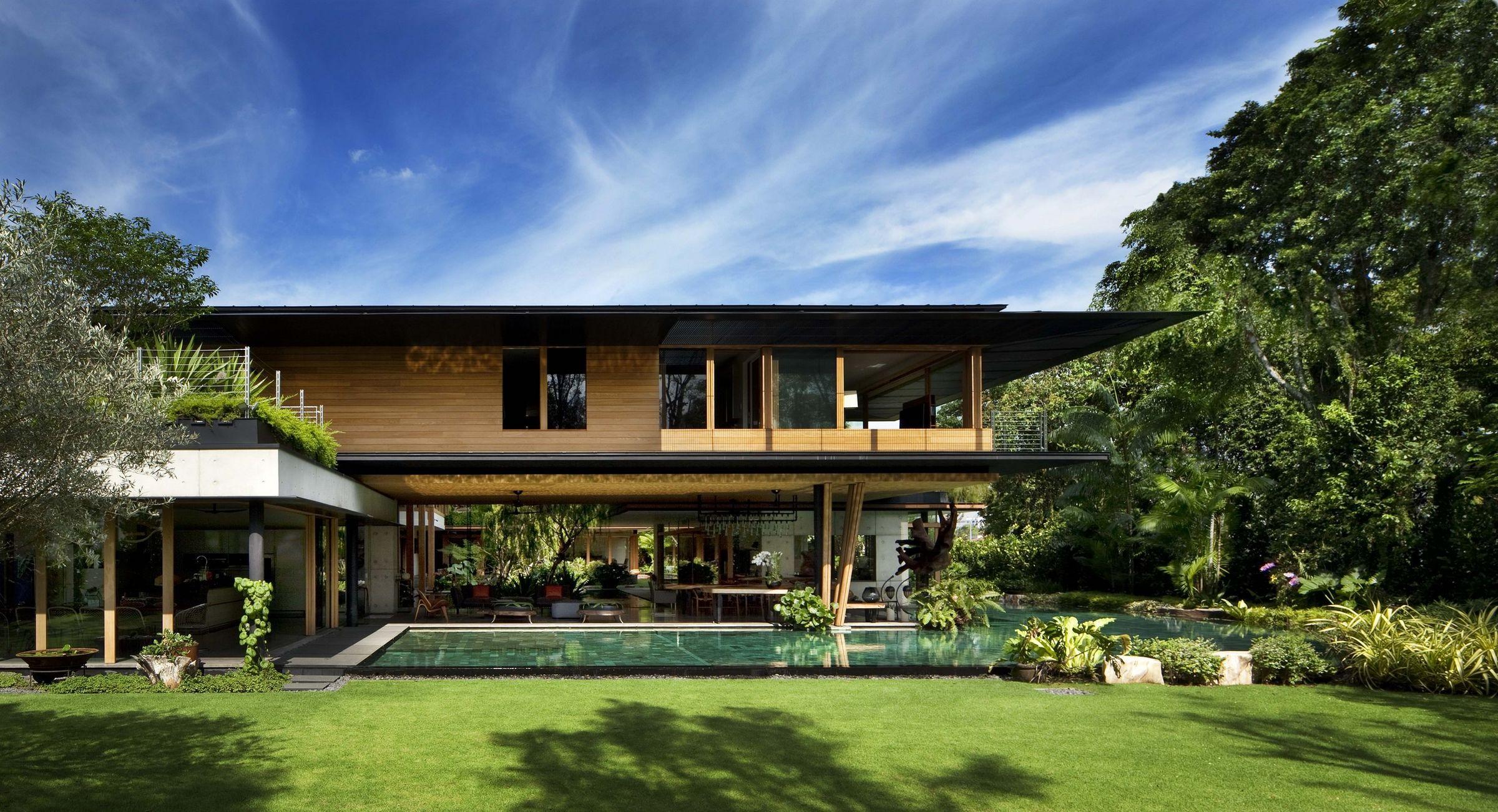 mau biet thu hien dai thoang dang kieu han quoc co san vuon 3 Mẫu kiến trúc nhà đẹp xu hướng 3   5 năm tới