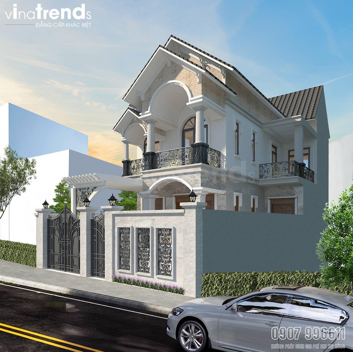 mau nha 2 tang mai thai co san truoc Mẫu biệt thự 2 tầng mái thái 9x17m có bản vẽ chi tiết hình xây xong thực tế ở Biên Hòa