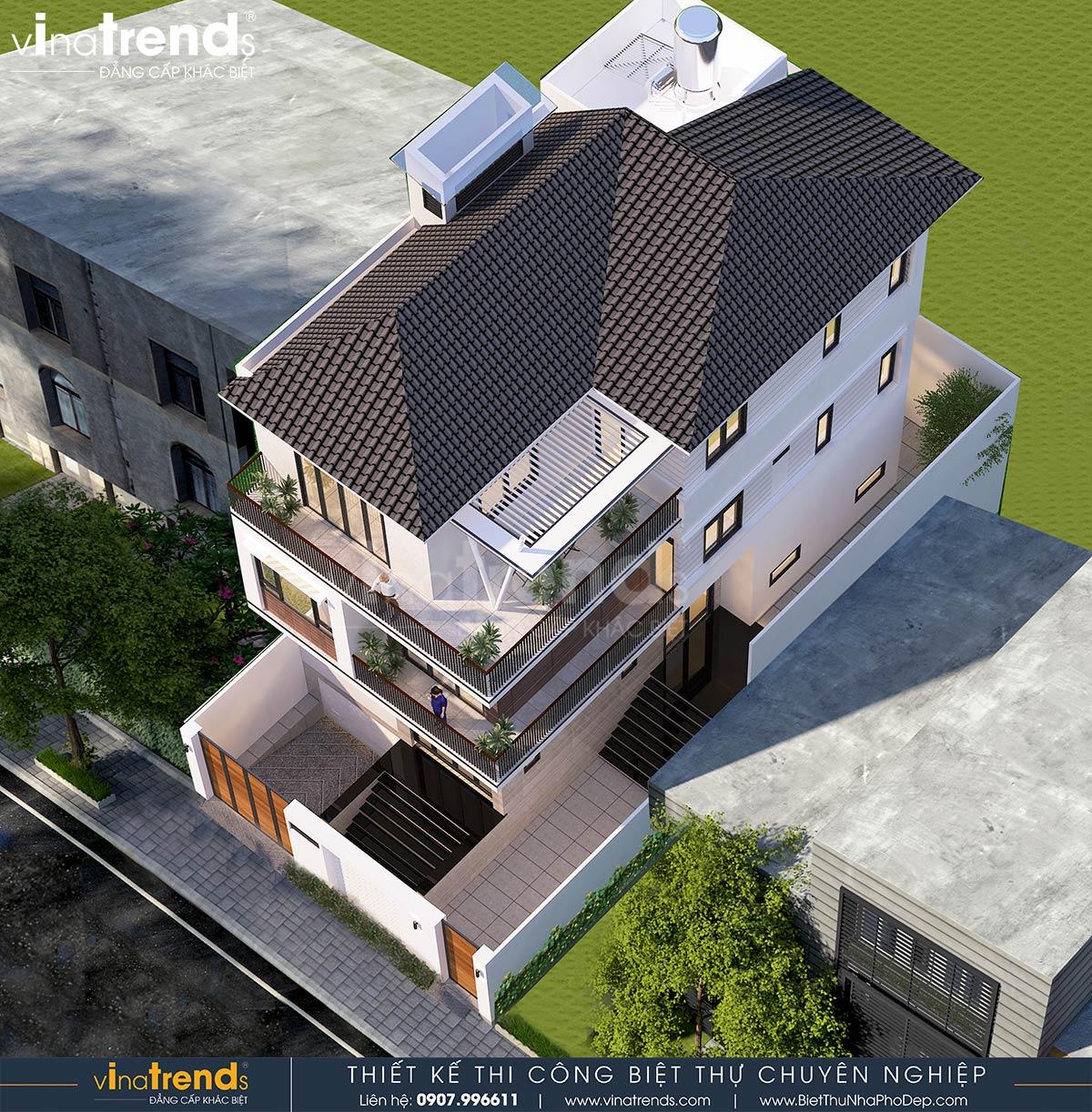 mau nha 3 tang hien dai co ham gara 8m dai 16m 6 Bản vẽ mẫu nhà biệt thự 3 tầng hiện đại 8x16m có hầm gara ô tô nhà anh Giang ở Hồ Chí Minh