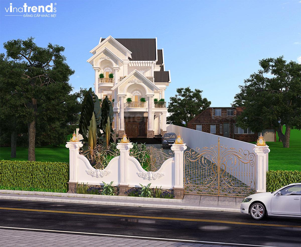 mau nha 3 tang mai thai dep Mẫu nhà biệt thự 3 tầng đẹp mái thái 11,4x17m đẹp nhất nhì ở Đồng Tháp