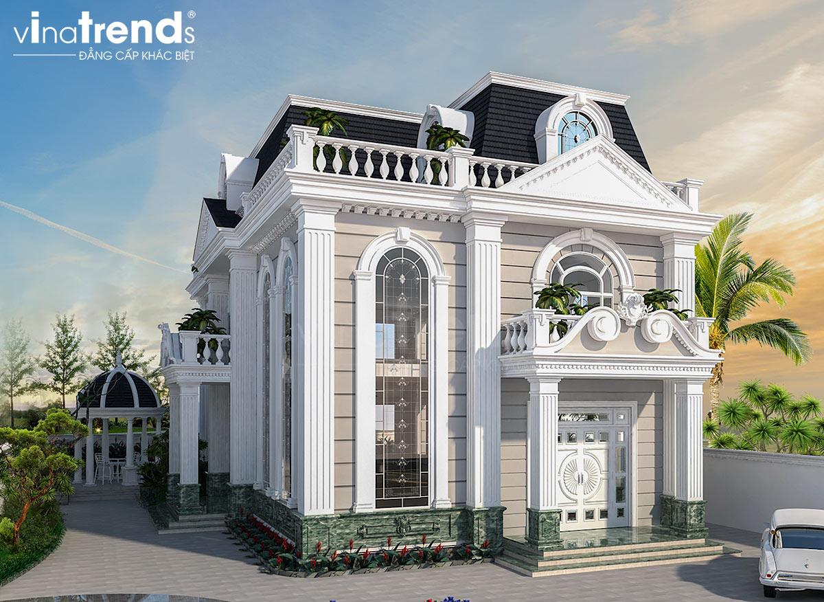 mau nha biet thu co dien 2 tang dep Mẫu biệt thự 2 tầng nhà vườn rộng 750m2 kiểu nông thôn Pháp đẹp từ cổng đến sau nhà ở Đồng Nai