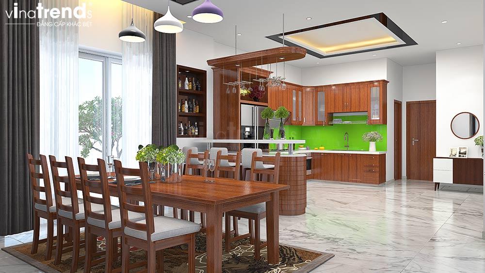 mau phong bep an dep Mẫu biệt thự đẹp 3 tầng có hầm ô tô 10x35m kiểu tân cổ điển ở An Giang sánh ngang Sài Gòn