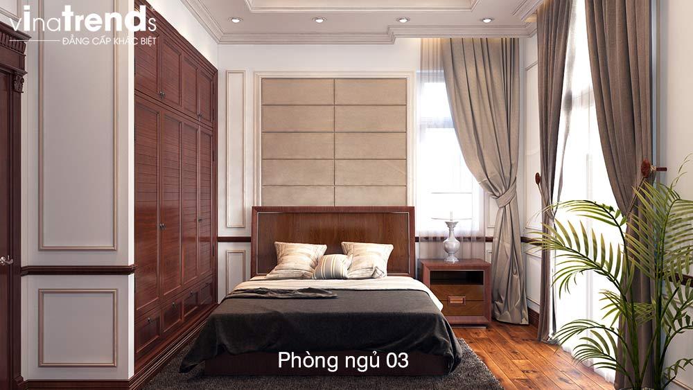 phong ngu dep Bản vẽ mẫu nhà biệt thự mini 4 tầng 55m2 tân cổ điển trong mảnh vườn rộng 300m2 ở Biên Hòa