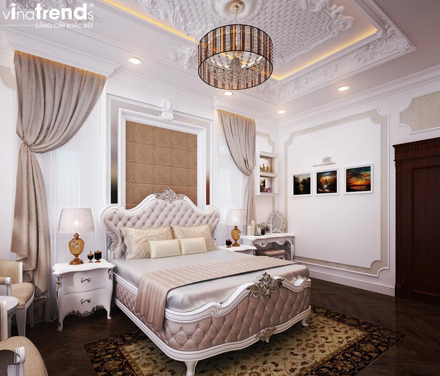 phong ngu master biet thu 2 tang co san thuong co dien mat tien 7m dai 15m dep nhu hoang cung Mẫu thiết kế nội thất phòng ngủ cổ điển sang trọng   NT250714A