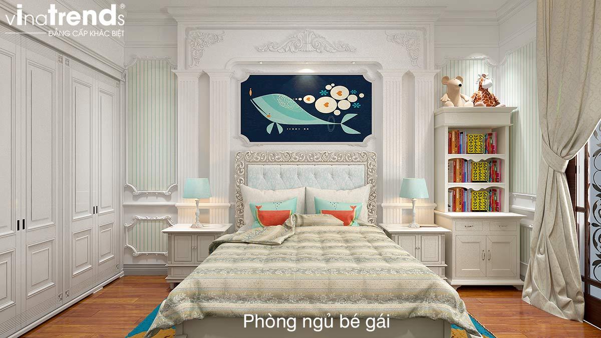phong ngu mau xanh Thiết kế nội thất cao cấp cho căn hộ nhỏ xinh   NT131213B