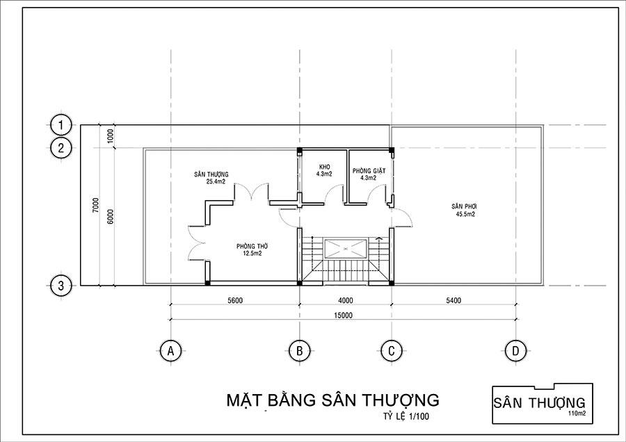 san thuong biet thu 2 tang co san thuong co dien mat tien 7m dai 15m dep nhu hoang cung Mẫu biệt thự 2 tầng cổ điển có sân thượng 7x15m hấp dẫn trực quan gia đình anh Nam ở Củ Chi