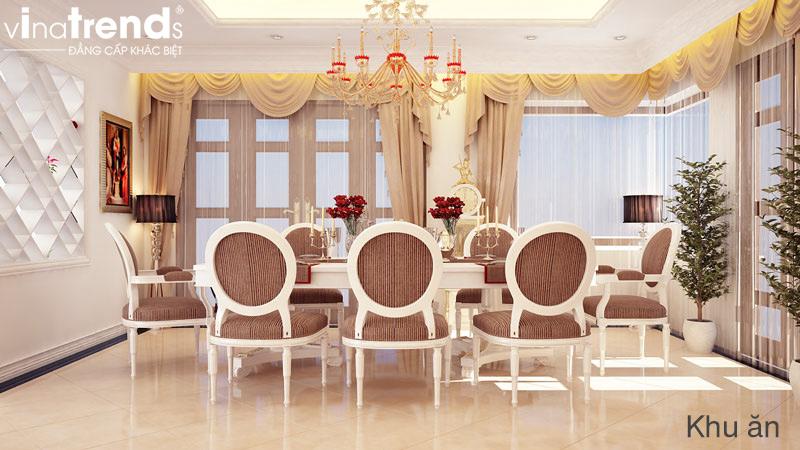 thiet ke noi that biet thu 2 tang co dien dep 2 Nội thất phòng ăn đẹp với nội thất đèn chùm   NT011213A