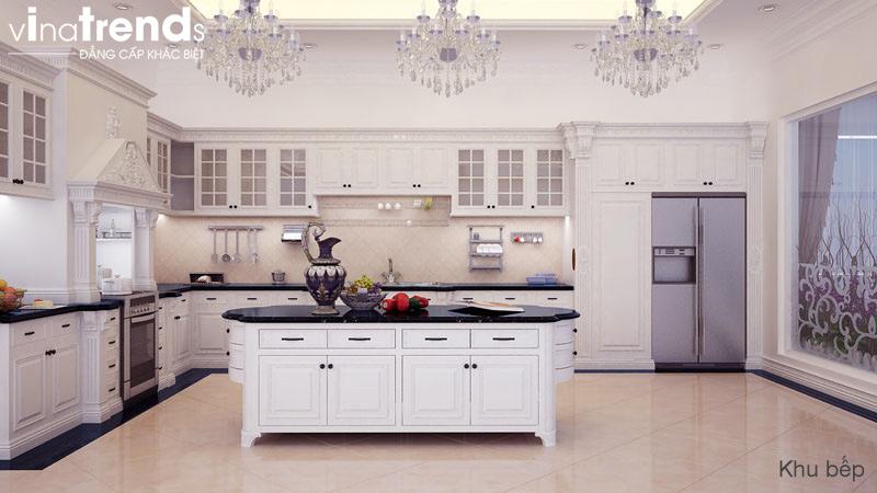 thiet ke noi that biet thu 2 tang co dien dep 4 Tư vấn thiết kế nội thất cao cấp cho phòng bếp đẹp   NT011213G