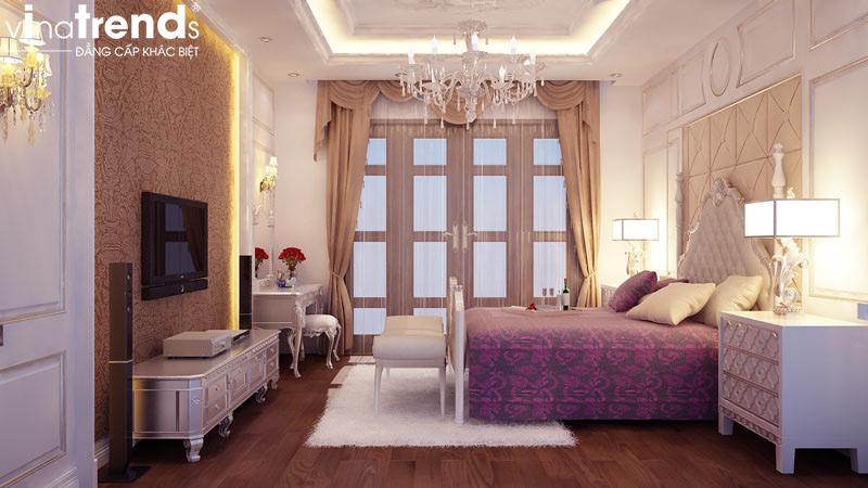 thiet ke noi that biet thu 2 tang co dien dep 8 Mẫu nhà biệt thự 2 tầng cổ điển 14x17m có sân vườn lộng lẫy như cung điện của chú Y ở Củ Chi