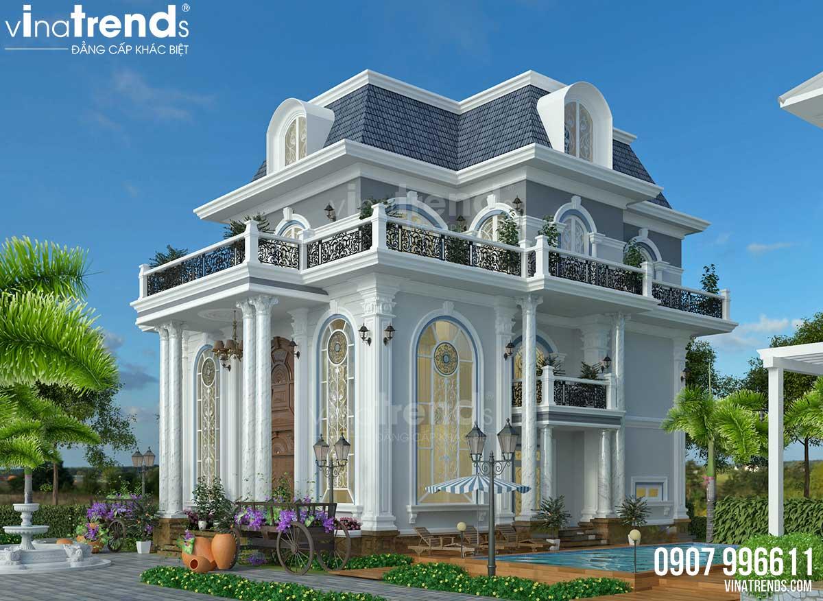 biet thu 3 tang co dien Phap dep nhat Mẫu nhà biệt thự 3 tầng 2 mặt tiền tân cổ điển Pháp 126m2 ở Biên Hòa xong hồ sơ!