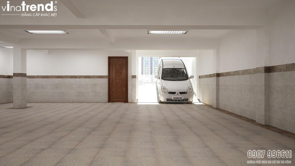 biet thu co ham o to Mẫu biệt thự 4 tầng có hầm ô tô cổ điển 8x15m có 6 phòng ngủ ở Quận 7 Sài Gòn