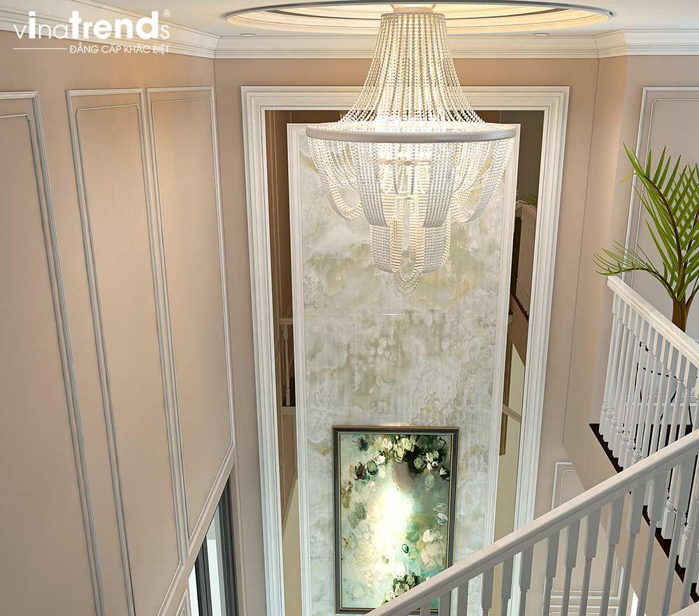 den pha le cau thang chung cu tan co dien cao cap Đẳng cấp mẫu nội thất đẹp chung cư 2 tầng tân cổ điển ở Hồ Chí Minh