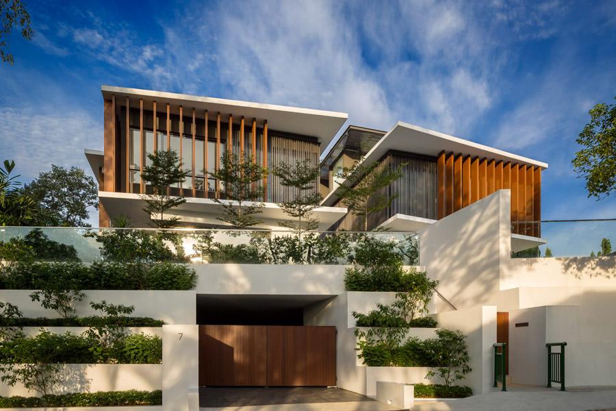 mau biet thu hien dai dep 3 tang co san vuon nho cay xanh dep nhat 53 Top 20 mẫu nhà biệt thự đẹp tìm kiếm nhiều nhất dành cho khách muốn xây nhà